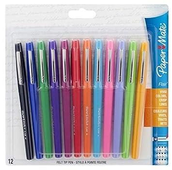 nouvelles promotions Acheter Authentic en gros Paper Mate Flair Felt Tip Pens, Medium Point (0.7mm), Assorted Colors, 12  Pack