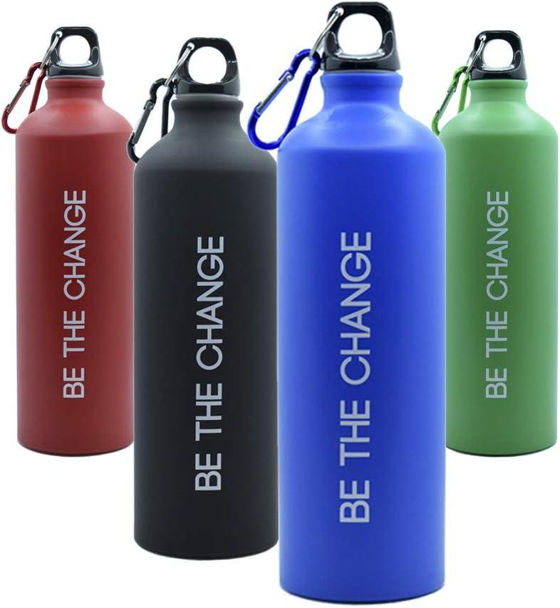 Botella de Agua 800ml, Aluminio - Reutilizable, Muy Ligera y sin BPA, Ideal para Deporte, Trabajo y Colegio