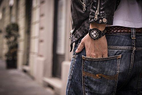 FONDERIA herrklocka SALTSPEEDER – vintageklocka rostfritt stål, italiensk design, kronograf med stoppfunktion