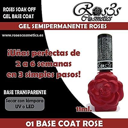 Gel semipermanente Ros3s 01-Gel Base Roses 15 ml, Konad, Ros3s Cosm3tics