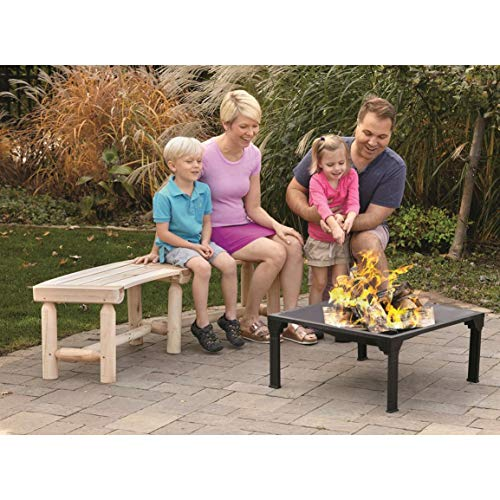 CASTLECREEK Log Fire Pit Bench (Curved Bench Backless)