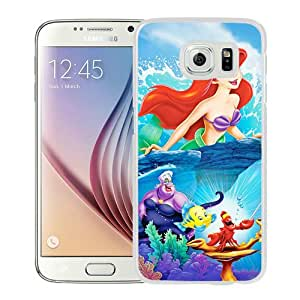 Beautiful Samsung Galaxy S6 Case ,Unique And Lovely Designed With The Little Mermaid disney princess White Samsung Galaxy S6 Phone Case