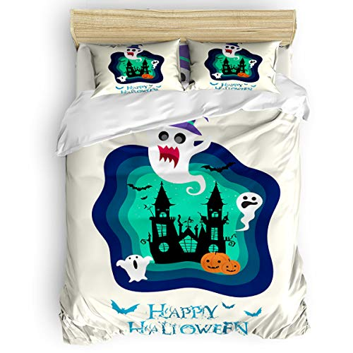 CHARMHOME Duvet Cover Set Twin Size - Happy