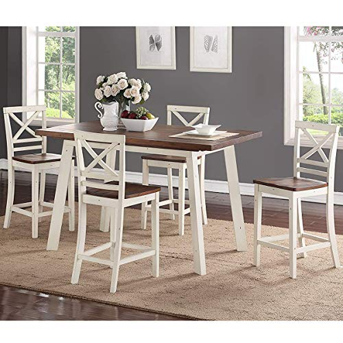 Standard Furniture Amelia Counter Height Dining Table Set, Includes Table and 4 Counter Height Bar Stools (Bar Amelia Stool)