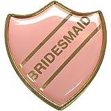Bridesmaid Gel Domed School Shield Wedding Badge