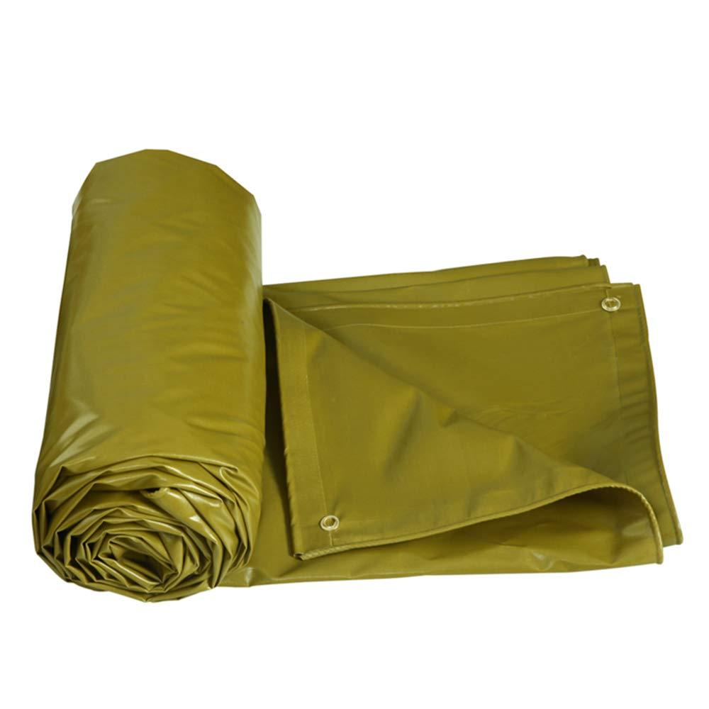 YNN - ターポリン 両面防水防水屋外防雨布PVC日除けスチームトラックカバー雨天タパスリンキャンバス抗UV - 520g / m2 (色 : イエロー いえろ゜, サイズ さいず : 8*5m) 8*5m イエロー いえろ゜ B07KG9G5SZ
