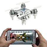AICase Cheerson CX-10W 4CH 2.4GHz iOS / Android APP Wifi Romote Control RC FPV Real Time Video Mini Quadcopter Helicopter Drone UFO with 0.3MP HD Camera, 6 Axis Gyro - Silver