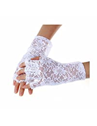 GOOTRADES Women Wrist Length Sexy Lace Fingerless Gloves