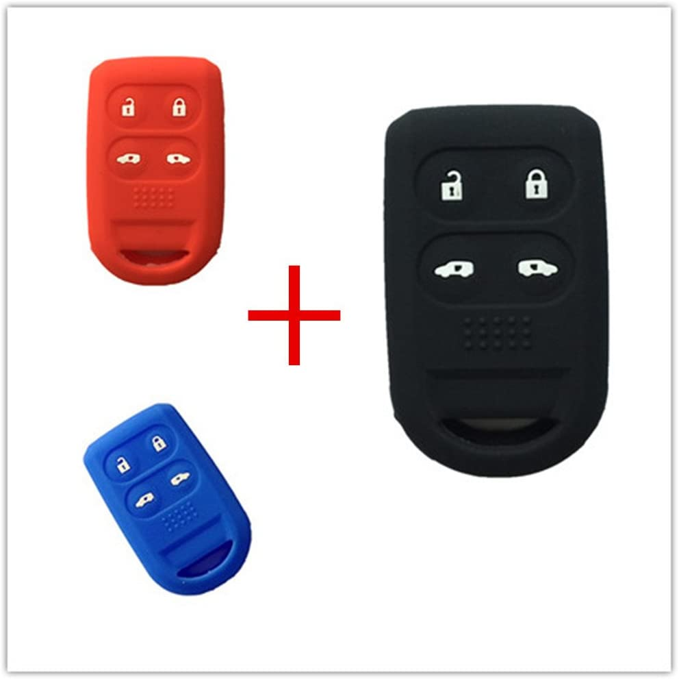 4 Buttons Dark Blue Silicone Cover Remote Smart Key Case Shell For Honda Odyssey