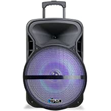 Technical Pro PVOLT15LBT Active 15-inch Bluetooth Powered Speaker with LED Light - 300 Watts Peak Power (Certified Refurbished)
