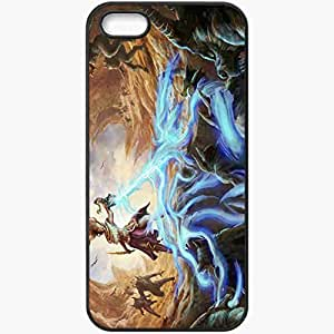 Personalized iPhone 5 5S Cell phone Case/Cover Skin Art Monsters Magic Rocks Black