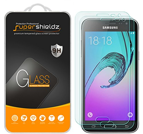 [2-Pack] Supershieldz for Samsung Galaxy J3 / J3 (2016) Tempered Glass Screen Protector, Anti-Scratch, Anti-Fingerprint, Bubble Free, Lifetime Replacement - Glasses 2016