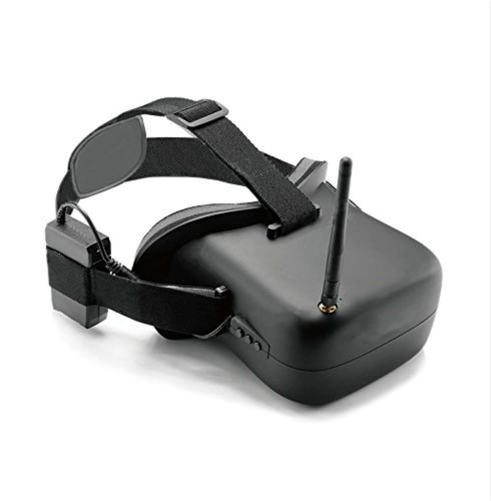 Usshopsksw VR-007 Pro 5.8G 40CH FPV Goggles 4.3 Inch Video Headset Glasses with 3.7V 1600mAh Battery
