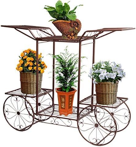 dimensioni : circa67/x 79/x 25/cm altezza x larghezza x profondit/à Fioriera a gradini a 2 livelli porta fiori per interni ed esterni in metallo
