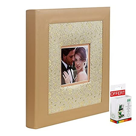 Traditional Golden Spell Photo Album With 100 Black Pages For 400