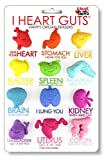 I Heart Guts Happy Organ Eraser Variety Pack of 12