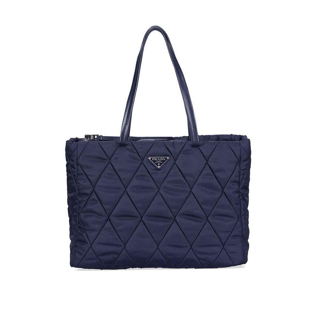 027b4b2ee4b1 Amazon.com: Prada Medium Quilted Nylon Tote Bag - Navy Blue: Shoes