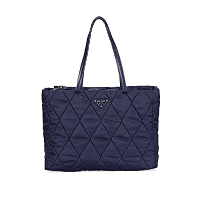 474917404957 Amazon.com: Prada Medium Quilted Nylon Tote Bag - Navy Blue: Shoes