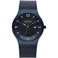 BERING Time 14440-393 Mens Solar Collection Watch with Mesh Band and scratch resistant sapphire crystal. Designed in Denmark.