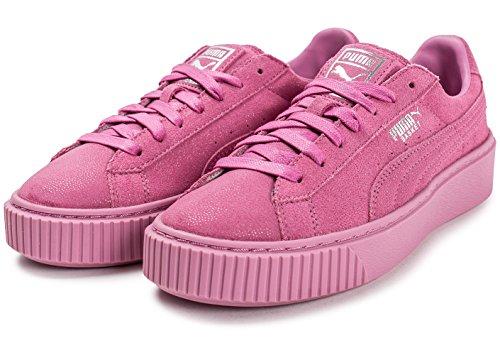 Puma Basketplatron Reset Dames Trainers 363313 Sneakers Schoenen Prisma Roze 02