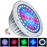 WYZM 40Watt Waterproof Color Changing LED Pool Light Bulb for Inground Pool, Fit in for Pentair and Hayward Pool Light Fixtures (120V RGB+White)