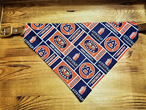 - Auburn University Tigers Pet No-Tie Dog Bandana