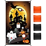 KUUQA Halloween Ghost Bean Bag Toss Game with 4 Bean Bags 19.7 ft Rope for Kids Family Halloween Party Game Favor Supplies