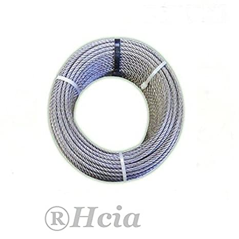 Par de 4 mm Cable métrica (acero inoxidable marino 7 x 7 ...