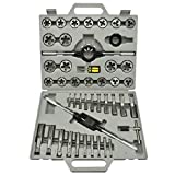 Metric Tap and Die Tool Kit Set HSS 45pc with Case Threader ,New