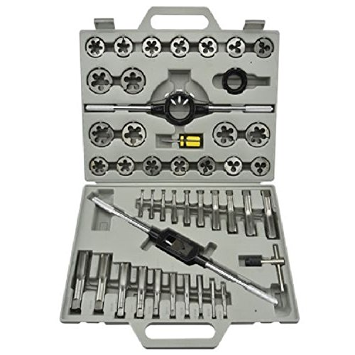 Metric Tap and Die Tool Kit Set HSS 45pc with Case Threader ,New by Brand New