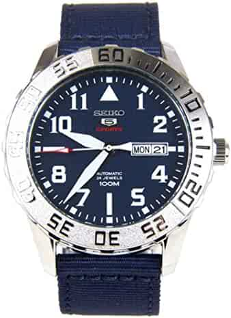 3f082f706be1 Seiko Automatic SRP759 Blue Dial Blue Nylon Band Men s Watch by Seiko  Watches
