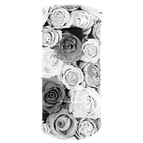 Tubular Neck Warmer 12 in 1 Sports Bandana Rose Flowers Biker Balaclava Head Wrap (Morf Suit)