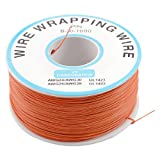 uxcell® PCB Solder Orange Flexible 0.5mm Outside Dia 30AWG Wire Wrapping Wrap 1000Ft