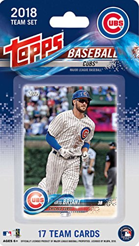 2018 Topps Baseball Factory Chicago Cubs Team Set of 17 Cards which includes: Kris Bryant(#CC-1), Ian Happ(#CC-2), Anthony Rizzo(#CC-3), Kyle Schwarber(#CC-4), Jon Lester(#CC-5), Mike Montgomery(#CC-6), Addison Russell(#CC-7), Jose Quintana(#CC-8), Javier Baez(#CC-9), Jason Heyward(#CC-10), Tommy La Stella(#CC-11), Brandon Morrow(#CC-12), Ben Zobrist(#CC-13), Kyle Hendricks(#CC-14), Albert Almora(#CC-15), Willson Contreras(#CC-16), Carl Edwards Jr.(#CC-17)