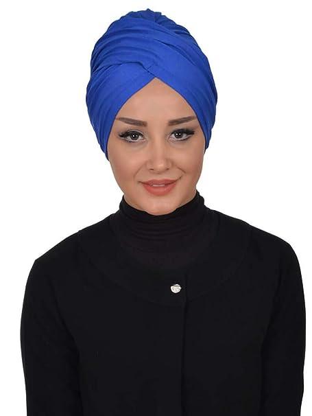 Ayse Turban - Pañuelo para la cabeza - para mujer azul Talla única: Amazon.es: Ropa y accesorios