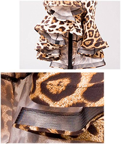 Gonne Scgginttanz Da Irregolare Pesce Moderno leopard A sbs Dell'oscillazione Professionale Latino Le Danza Di G2027 Spina Ballo qxIrgvnwI8