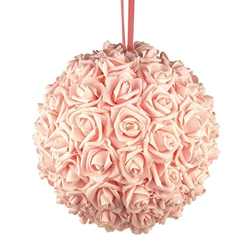 Homeford FNS008565LPK Soft Touch Foam Kissing Ball Wedding Centerpiece, 12