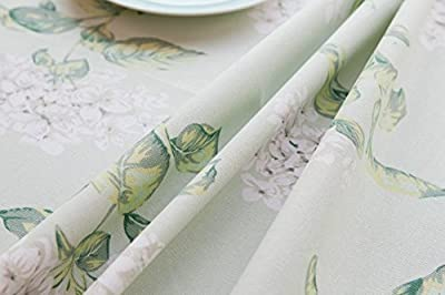KINGDESON Cotton Linen Rectangle Vintage Tablecloth Polyester Multi Sized