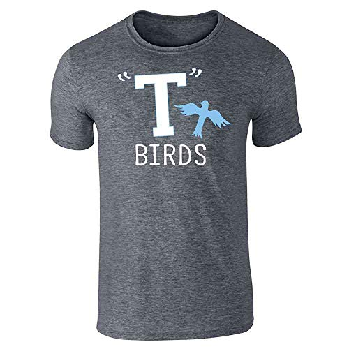 T Birds Gang Logo Costume Retro 50s 60s Dark Heather Gray L Short Sleeve T-Shirt]()