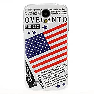 Usa Flag Pattern Plastic Case for Samsung Galaxy S4 I9500