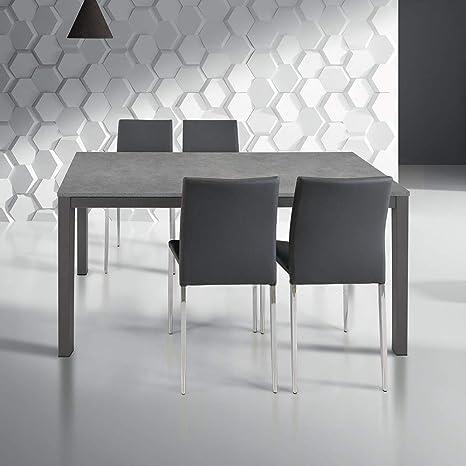 MilaniHome Tavolo da Pranzo Moderno di Design Allungabile Cm ...
