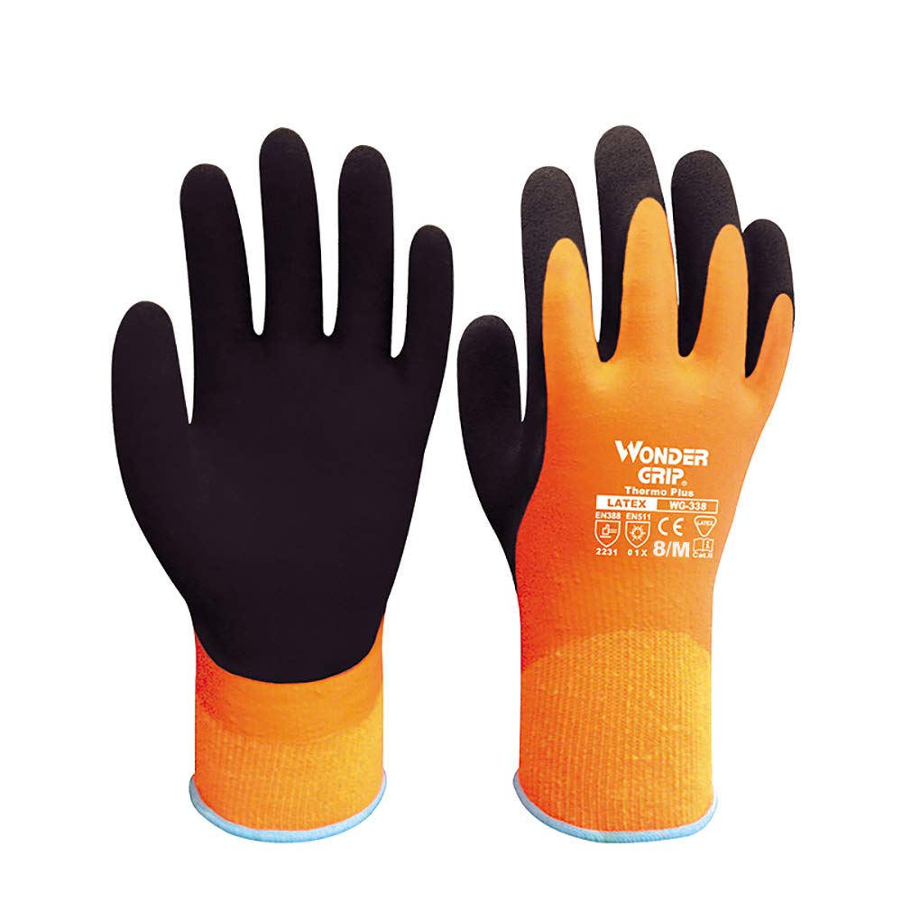 Festnight Wonder Grip WG-338 Thermo Plus Guanti da lavoro antifrizione a doppio strato Guanti da giardinaggio con protezione in lattice di grandi dimensioni