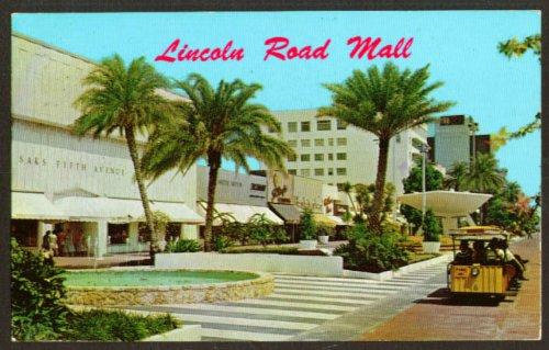 Tram Lincoln Road Mall Miami Beach FL postcard - Fl Malls Miami