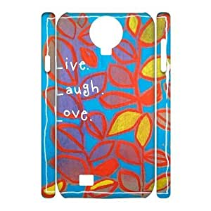 Custom Live Laugh Love Case for SamSung Galaxy S4 I9500 with Color art graffiti yxuan_9779519 at xuanz