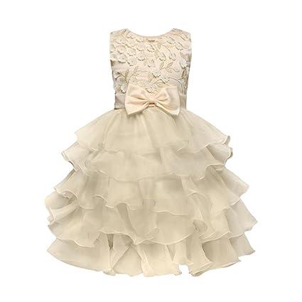 Bestido de princesa de algodón sin mangas para cumpleaños, dama de honor, boda,
