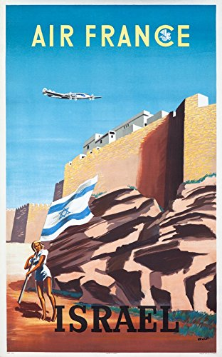 air-france-israel-vintage-poster-artist-renluc-france-c-1949-16x24-giclee-gallery-print-wall-decor-t