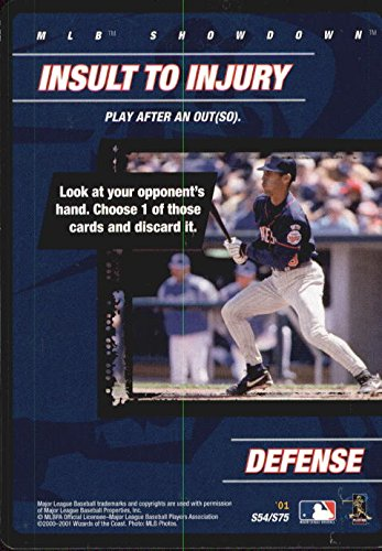 (2001 MLB Showdown Strategy #S54 Yankees Player Insult to Injury)