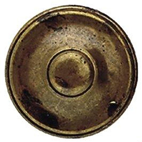 Bosetti Marella 100448 1800 Circa 1-3/8 Inch Diameter Mushroom Cabinet Knob, Old Iron