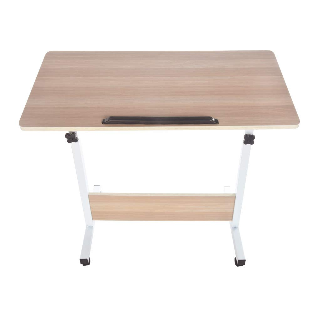 Chenway Computer Desk Modern Simple Study Desk Adjustable Laptop Table for Home Office Notebook Desk,Maple Wood,80cm40cm[Ship from USA Directly]