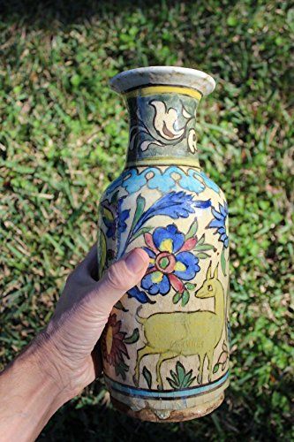 Antique Persian Quajar Islamic porcelain vase, 1800 AD